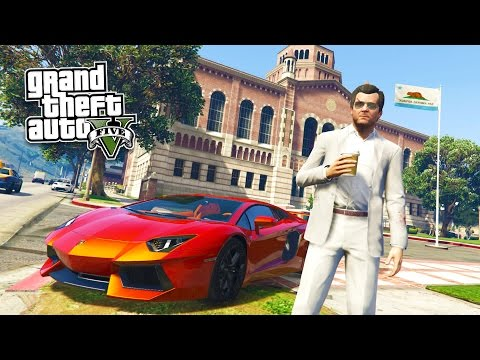 GTA 5 PC Mods - REAL LIFE MOD #16! GTA 5 School & Jobs Rolep