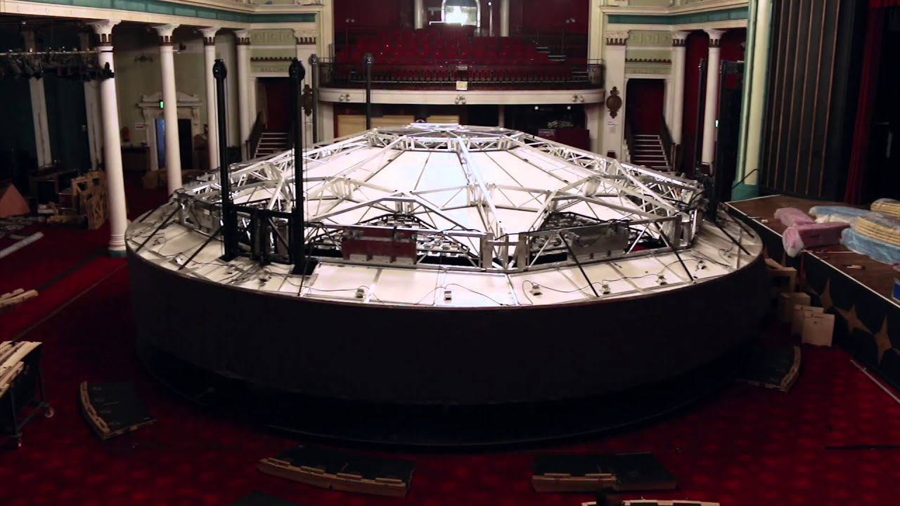 roundabout build in margate winter gardens september 2014 youtube