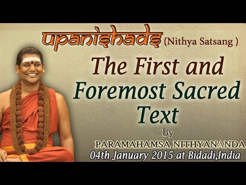 Upanishads the First and Foremost Sacred Text
