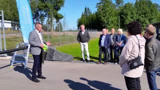 Invigning av avloppsreningsverket Pålslund i Värnamo