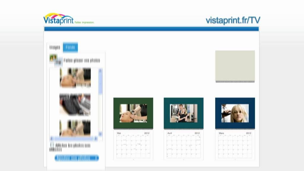 Calendrier Vista Print.Pub Tv Vistaprint France Calendrier Photo Pour Vos Clients 2011