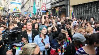 Lea Seydoux in Velvet Brussel's crowd at the Pride. 2012