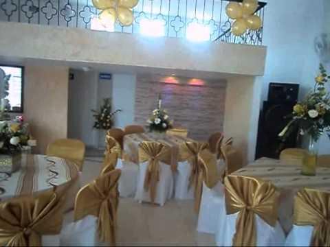 Sal n de eventos juan pablo primera comuni n youtube - Como decorar un salon para comunion ...