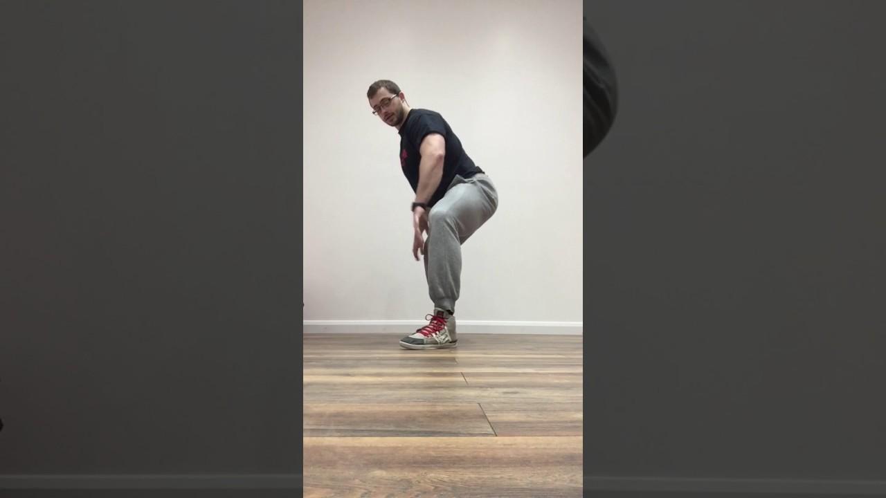 Sumo squat stretch