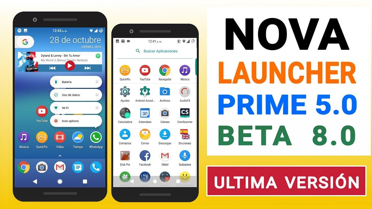nova launcher 6.0 beta 8 prime apk