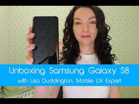 Unboxing the Samsung Galaxy S8