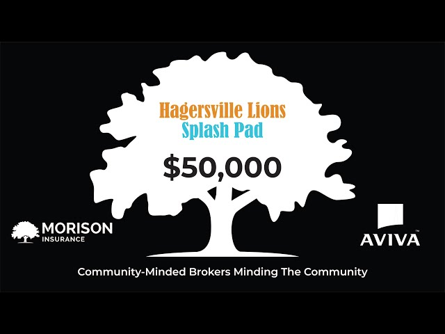 Morison Insurance & Tri-County Insurance Donate $50,000 to the Hagersville Splash Pad Project