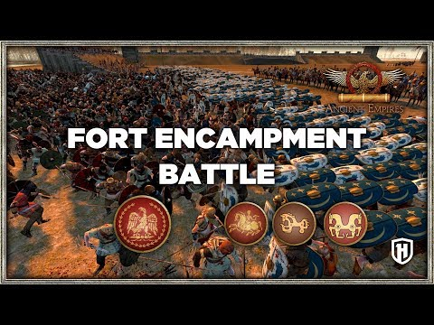 Fort Encampment Battle - Roman Republic v Iberian Tribes | Ancient Empires Mod