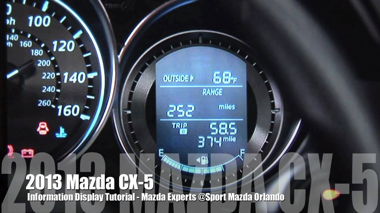 2013 Mazda Skyactiv Cx 5 Information Display System Youtube