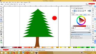 วาด Clipart รูป  christmas tree ด้วย Inkscape - Drawing christmas tree by Inkscape