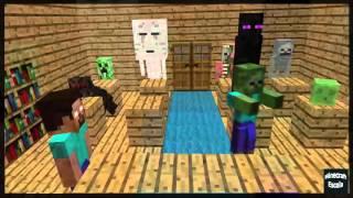 Minecraft Escola Monstro #09 : Correndo Obstacle - Minecraft Animação Engraçado 2016
