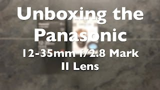 I ordered a Panasonic LUMIX Gh5 and I picked up the Panasonic 12-35...
