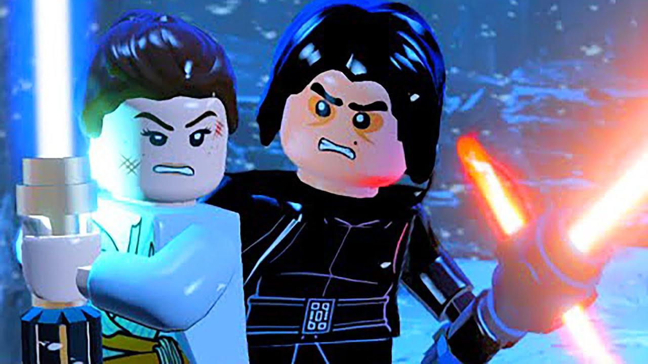 Lego Kylo Ren Vs Rey Finn Lightsaber Battle Final Boss Fight Ending Star Wars The Force Awakens Youtube