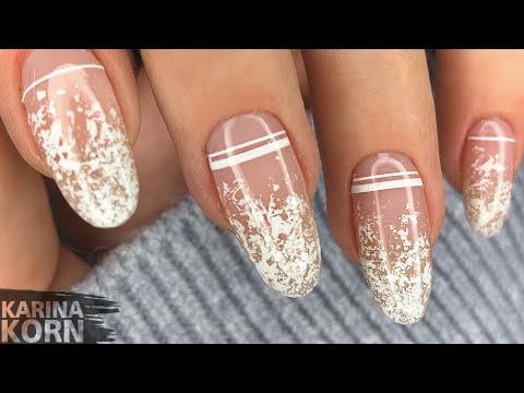 ✨Нереально красивый и быстрый маникюр / Нежный маникюр фольгой / Нюдовый дизайн ногтей