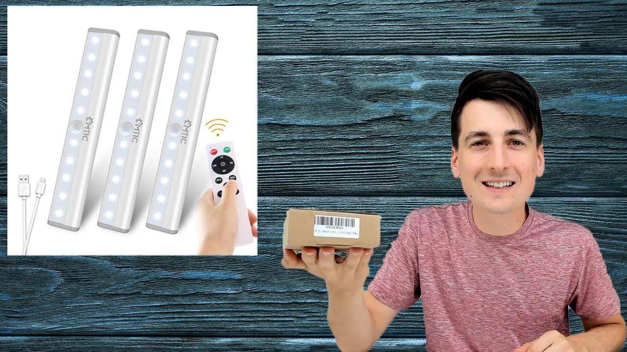 remote control under cabinet lights led dimmable rechargeable wireless light