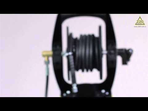 Как намотать шланг на катушку мойки высокого давления видео