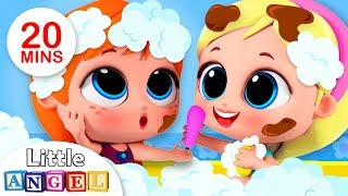 Princesses Elsa & Anna Bath Song |  More Kids Songs & Nursery Rhymes by Little Angel