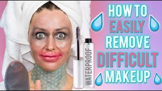 HOW TO REMOVE DIFFICULT / WATERPROOF MAKEUP THE RIGHT WAY | KristenLeanneStyle
