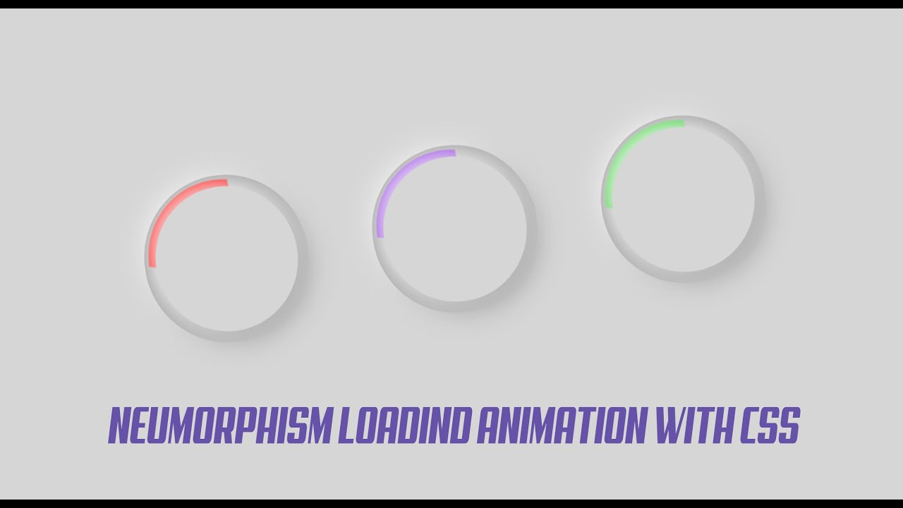 Neumorphism loading animation with css