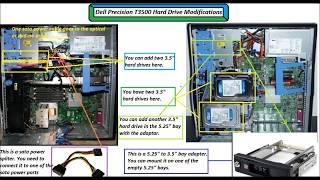 Dell Precision T3500 Hard Drive Modification