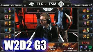 CLG vs TSM   S5 NA LCS Summer 2015 Week 2 Day 2   Team Solomid TSM vs CLG W2D2 G3 Round 1