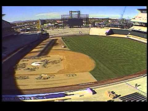 Coors Field construction