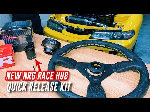 I UPGRADED MY STEERING WHEEL SETUP - NRG RACE HUB QUICK RELEASE
