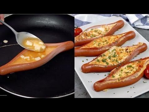 Wurstel eggs a simple and delicious idea