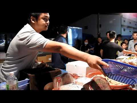 seafood auction -Taiwan changhua Xihu  Wednesday nightmarket ep.5