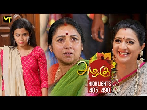 Azhagu Tamil Serial Episode 485 - 490 Highlights on Vision Time Tamil.   Azhagu is the story of a soft & kind-hearted woman's bonding with her husband & children. Do watch out for this beautiful family entertainer starring Revathy as Azhagu, Sruthi raj as Sudha, Thalaivasal Vijay, Mithra Kurian, Lokesh Baskaran & several others.  Stay tuned for more at: http://bit.ly/SubscribeVT  You can also find our shows at: http://bit.ly/YuppTVVisionTime  Cast: Revathy as Azhagu, Sruthi raj as Sudha, Thalaivasal Vijay, Mithra Kurian, Lokesh Baskaran & several others  For more updates,  Subscribe us on:  https://www.youtube.com/user/VisionTimeTamizh Like Us on:  https://www.facebook.com/visiontimeindia