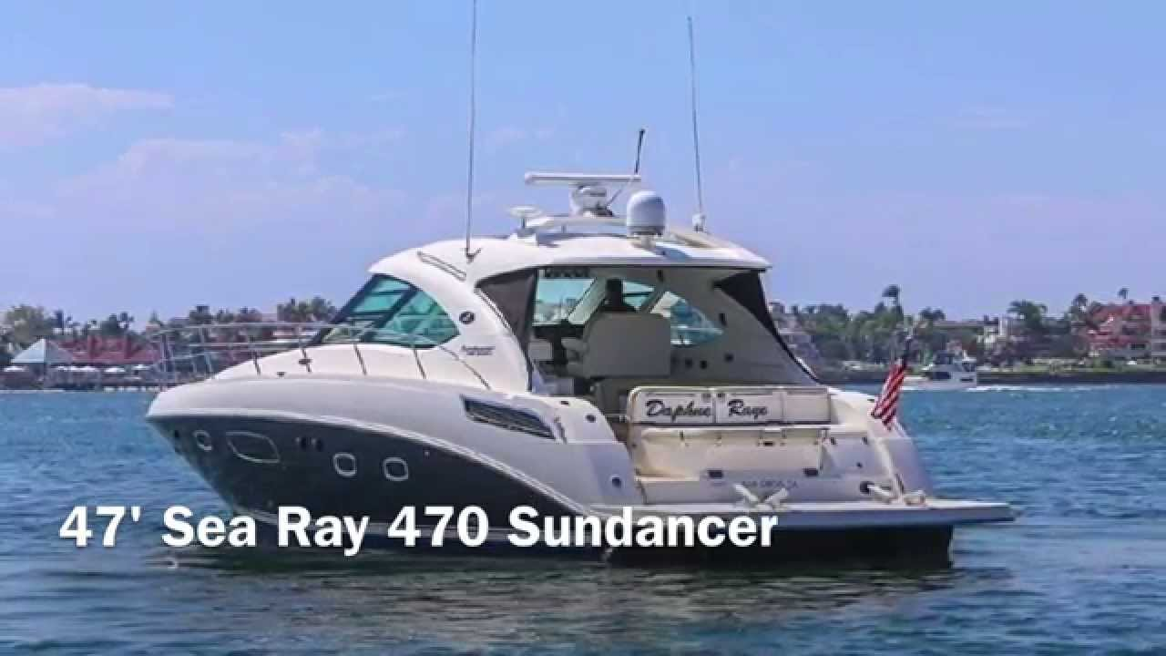 47' Sea Ray 470 Sundancer For Sale in San Diego - YouTube