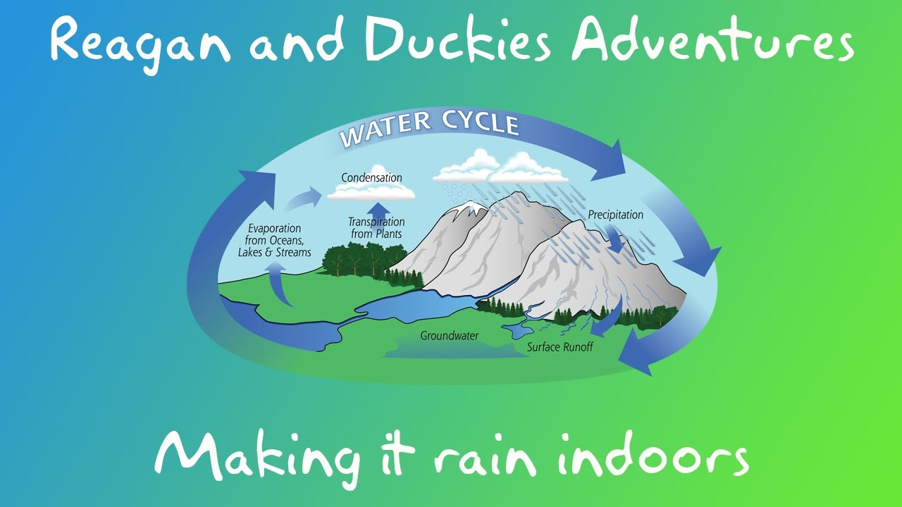 Rain Experiments For Kids Explained Water Cycle