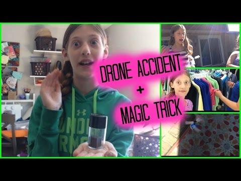 Drone accident + magic trick!