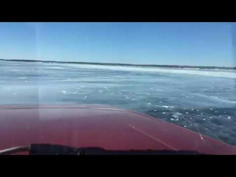 Truck Falls Through Frozen Ice on Lake Winnipeg