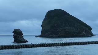 宿からの景色 黄金岬 宝島 ゴメ島 ビヤノ岬