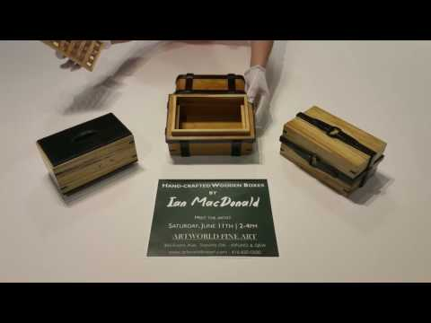 Ian MacDonald handcrafted wooden boxes.