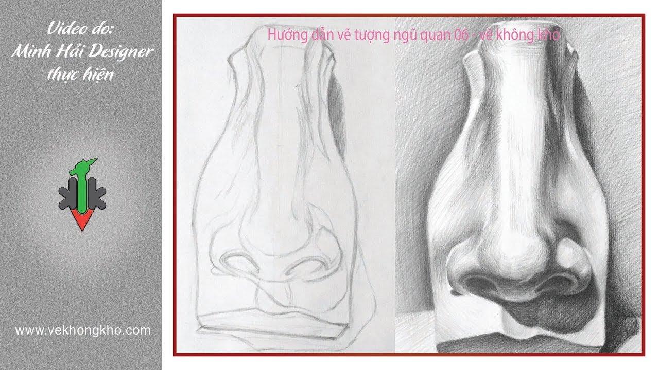 Hướng dẫn vẽ tượng ngũ quan 06  – vẽ không khó
