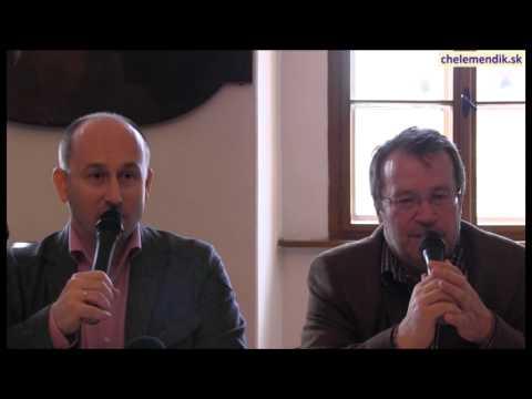 Beseda s N. Starikovym a S. Chelemendikom v Banskej Bystrici, 11.4.2014