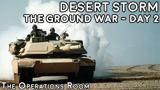 Desert Storm - The Ground War, Day 2 - Iraqi Counterattack - Animated
