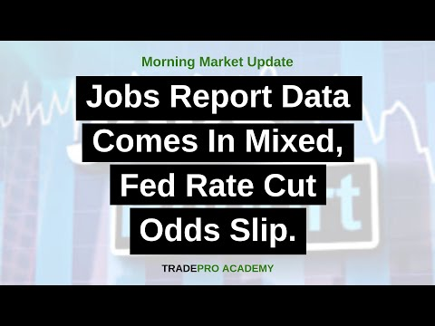 Jobs Report Data Comes In Mixed, Fed Rate Cut Odds Slip.