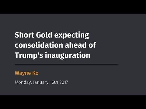 Short Gold expecting consolidation ahead of Trump's inauguration - Idea by Wayne Ko