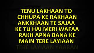 DIL DIYAN GALLAN KARAOKE WITH LYRICS ATIF ASLAM TIGER ZINDA HAI KARAOKE