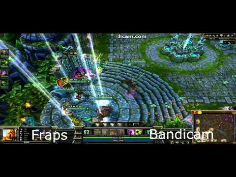 Fraps and Bandicam comparison - League of legends