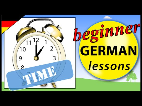 Tell the time in German | Beginner German Lessons for Children