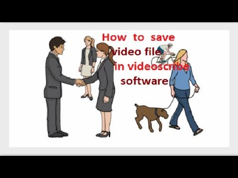 How to save & export an scribe or convert  an video format || in videoscribe software tutorial