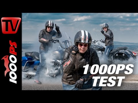 1000PS Test - Harley-Davidson Road King vs. Indian Springfield 2017 - ENGL Subs