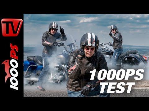 1000PS Test - Harley-Davidson Road King vs. Indian Springfield 2017 - ENGL Subs