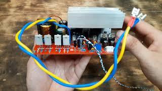 DC to DC converter 12 to +45V 0V  - 45V 300W with TDA7294 audio amplifier