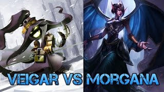 Mid Veigar build - Veigar vs Morgana ranked [Veigar 2k ap]