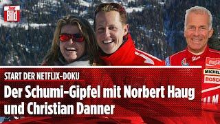 Zum Start der Netflix-Doku: Der Schumi-Gipfel mit Haug und Danner